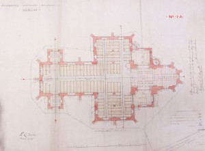 T.H.Wyatt's  plan for 'Pembroke District Church Dublin'  1864